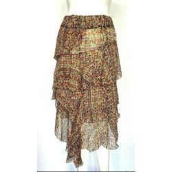 toile Isabel Marant Multicolor Silk Floral Skirt Sz 2