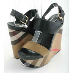 Burberry Nuneaton Check Wedge Sandals