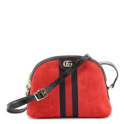 Ophidia Dome Shoulder Bag Suede Small