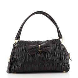 Bow Shoulder Bag Gaufre Nappa Medium