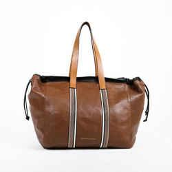 Brunello Cucinelli Tote Bag Brown Leather Monili