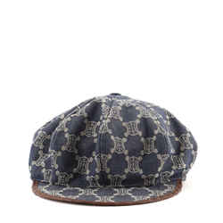 Newsboy Cap Macadam Canvas with Leather XL