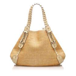 Tan Gucci Pelham Canvas Shoulder Bag