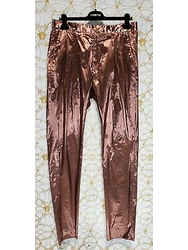 S/s 2013 Look #11 Versace Runway Copper Lame Pants 34 - 50 (l)