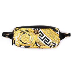 Versace - New - Belt Bag - Shoulder Baroque Yellow Black Leather Zip Medusa