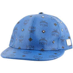 MCM Blue Visetos Coated Canvas Rock Stud Hat