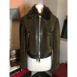Burberry Brit Size 6 Brown Shearling Fur Jacket Coat 2677-1-92420
