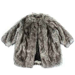 Prada - Eco Faux Fur Coat - Grey - Brown - Black - Oversized Us 0 - 38