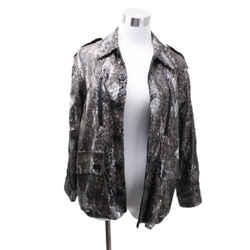 Zadig & Voltaire Metallic Brown Olive Green Sequins Camouflage Jacket sz S
