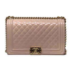 Chanel New Medium Iridescent Patent Quilted Bag Pink