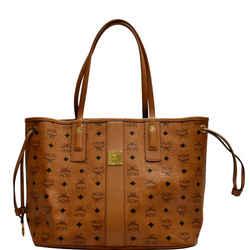 MCM  Reversible Liz Visetos Canvas Shopper Tote Bag Cognac