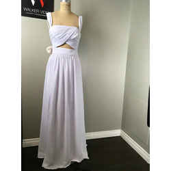 Frame Ptnrs. Sz 2 White Chiffon Cut Out Gown/evening - New