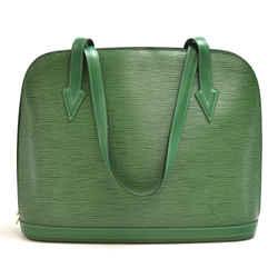 Vintage Louis Vuitton Lussac Green Epi Leather Large Shoulder Bag LU446