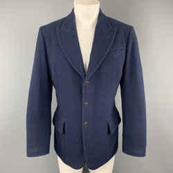 Jean Paul Gaultier Size 38 Navy Lana Wool Peak Lapel Sport Coat