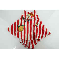 Dolce & Gabbana Infant Red and White Stripe Beach Applique Dress