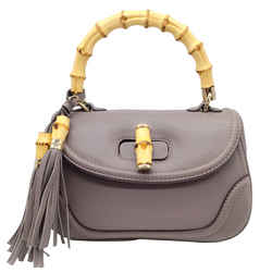 Gucci New Bamboo Top Handle Taupe Shoulder Bag