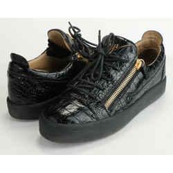 Giuseppe Zanotti London Double-Zip Leather Low-Top Sneakers