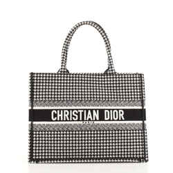 Book Tote Houndstooth Canvas Small