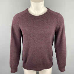 A.P.C. Size M Purple Superfine Wool Ribbed Collar Pullover