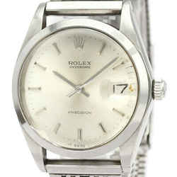 Vintage ROLEX Oyster Date Precision 6694 Steel Hand Winding Mens Watch BF525094
