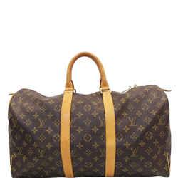 Louis Vuitton Keepall 45 Monogram Canvas Travel Bag Brown