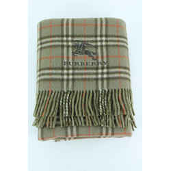 Burberry Green Khaki Nova Check Shawl Throw Scarf 10bur1228