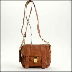 Rdc11259 Authentic Proenza Schouler Brown Leather Ps1 Mini Crossbody Bag