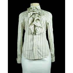 RALPH LAUREN Long Sleeve Stripe Blouse