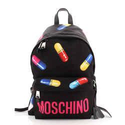 Zip Around Backpack Printed Nylon Medium
