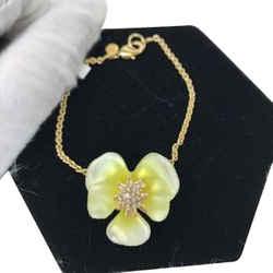 Alexis Bittar Resin Flower Bracelet On Gold Chain