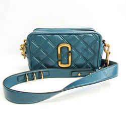 Marc Jacobs THE SOFTSHOT 21 M0015419 Women's Leather Shoulder Bag Blue  BF532103