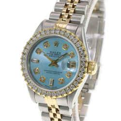 Rolex Ice Blue Lady Datejust Diamond Dial Diamond Bezel 26mm Watch