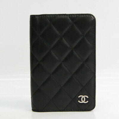 Chanel Matelasse Pocket Size Planner Cover Black BF528275