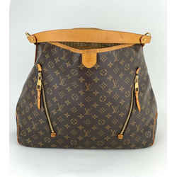 LOUIS VUITTON Delightful GM Monogram Canvas Shoulder Bag Brown A609 Authentic