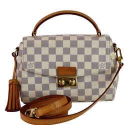 Louis Vuitton Croisette Damier Azur Shoulder Crossbody Bag White