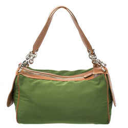 Tod's Green Nylon Shoulder Bag