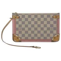 Louis Vuitton Neverfull Pochette Summer Trunks Damier Azur Canvas Clutch