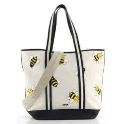 KAWS Bee Shopper Tote Printed Canvas with Leather Medium
