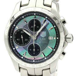 Polished TAG HEUER Link Chronograph Moon Pearl Limited Watch CJF211M BF532659