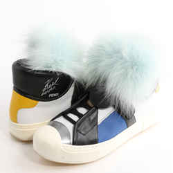 Fendi 'Karlito' Genuine Fox Fur Trim High Top Sneakers