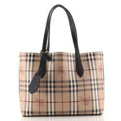 Reversible Tote Haymarket Coated Canvas and Leather Medium