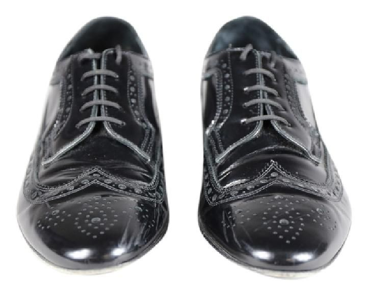 mens leather brogues black
