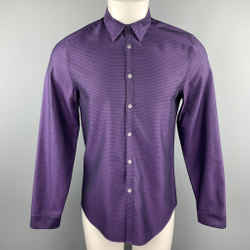 Paul Smith Size M Purple & Black Chevron Cotton Button Up Long Sleeve Shirt