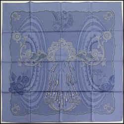 """Rdc11644 Authentic Hermes Lavender Lace """"doigts De Fee"""" Silk Scarf"""