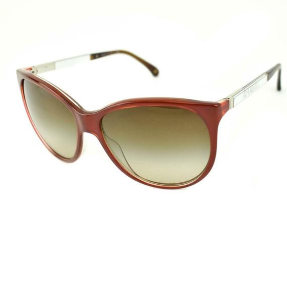 "CHANEL ""Collection Miroir"": Crimson Red, Logo Sunglasses (mg)"