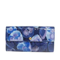 Vintage Authentic Louis Vuitton Blue Vernis Ikat Sarah Wallet France