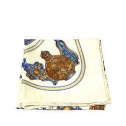 White Hermes QuImporte le Flacon Silk Scarf