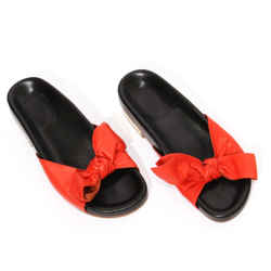 Chloe Bow Slide Sandal