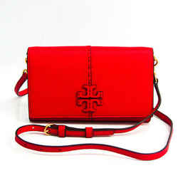 Tory Burch Women's Leather Chain/Shoulder Wallet Red Color BF521023