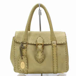 Fendi Leather Selleria Satchel 867181